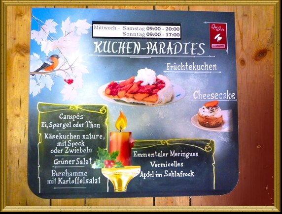 Kreidetafel Winter QueSera HP